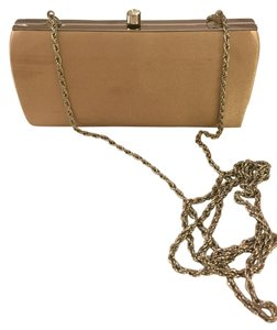 Cache Evening Gold Nude Satin Gold/Nude Clutch