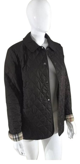 Burberry Classic Quilted Nova Check Dark Brown Jacket - 49% Off Retail chic