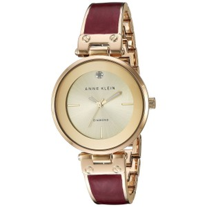 Anne Klein Goldtone and Red Marble Ak 2512