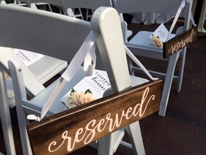 Wedding Signs- Reserved