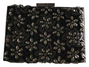 Alice + Olivia Gray and black w/beads Clutch