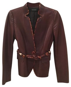 Gucci Cognac brown Leather Jacket