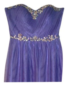 DEB Short Strapless Beaded Dress