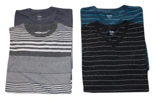 Mossimo Supply Co. 4 For 1 T Shirt Black, Teal, Grey, Striped