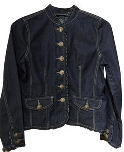 Baccini Dress Light Weight Pm Darker Blue Denim Womens Jean Jacket