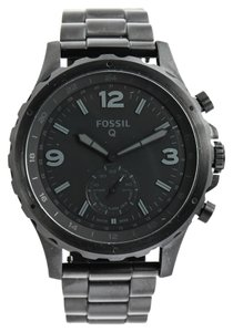 Fossil Q NATE HYBRID BLACK STAINLESS STEEL SMARTWATCH