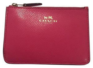 Coach Nwt Coach Pink Leather Cash Coin Purse Key Pouch Wallet Bag