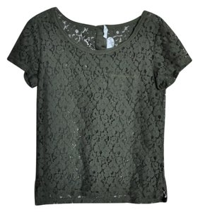 H&M Green Lace Top Olive