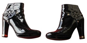 Tory Burch Patent Leather Black Boots