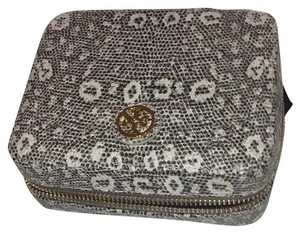 Tory Burch Lizard Zip Jewelry Case