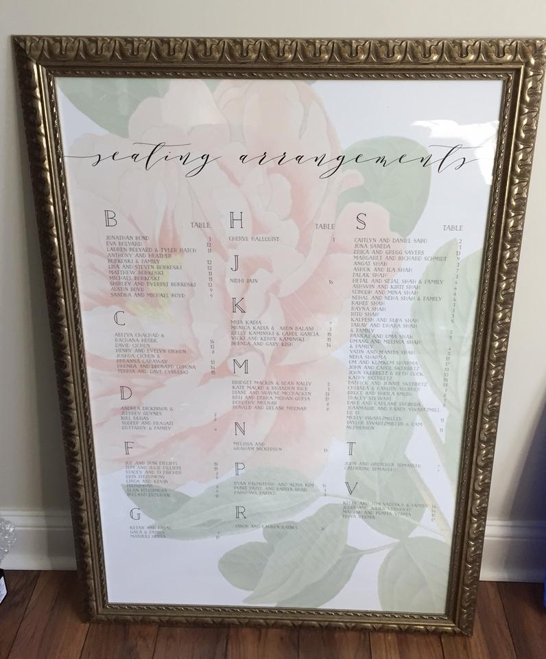 Antique Gold For Seating Chart Reception Decoration - Tradesy