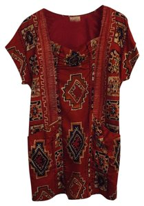 Plenty by Tracy Reese short dress Red Orange Print on Tradesy