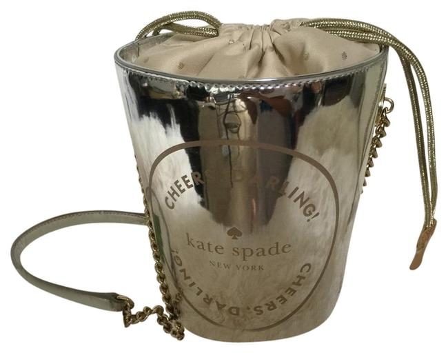 Item - Bucket Champagne Silver Patent Leather Messenger Bag