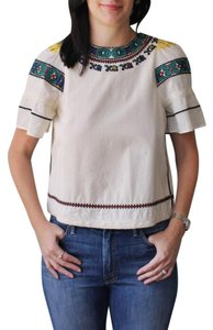 Sea New York Shirt Embroidered Top Ivory
