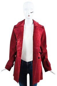 Gucci Burgundy Suede Red Jacket