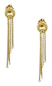 David Yurman David Yurman 18k Yellow Gold Diamond Tassel Earrings