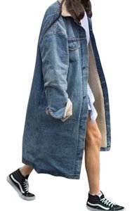 Oak + Fort Medium Denim Womens Jean Jacket