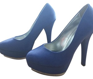 Michael Antonio Royal Blue Platforms