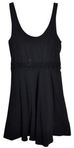 Hollister short dress Black Crochet Skater Tank on Tradesy