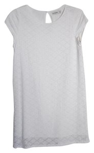 Abercrombie & Fitch short dress White Lace T Shirt Crochet Shift Tee on Tradesy