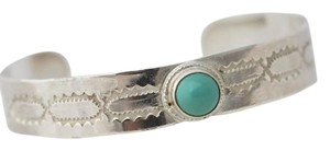 Southwestern Sterling Silver Turquoise Cuff