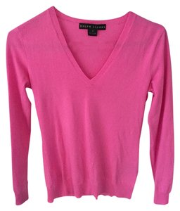 Ralph Lauren Cashmere Fitted V-neck Sweater
