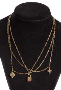 Louis Vuitton Multi Strand Charm Necklace