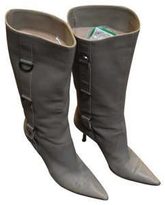 Jimmy Choo Leather Gray Boots