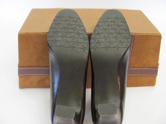 Hush Puppies Padded Footbed Size 5.50 M Excellent Condition Brown Pumps Image 5