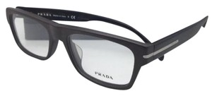 Prada New PRADA Eyeglasses VPR 18R-F TV6-1O1 55-18 Brushed Brown & Tortoise