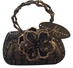 Mary Frances Tote in Bronze W/black, Brown, White Beads