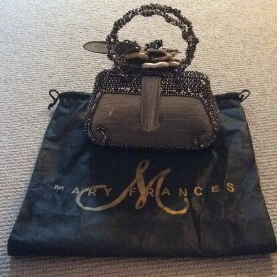 Mary Frances Tote in Bronze W/black, Brown, White Beads Image 2