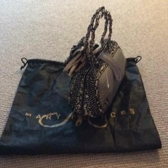 Mary Frances Tote in Bronze W/black, Brown, White Beads Image 3