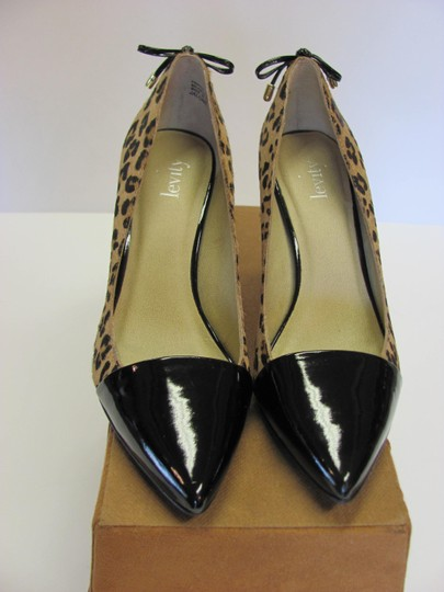 Other Size 6.00 M Patent Animal Print Very Good Condition Black, Neutral Pumps Image 2