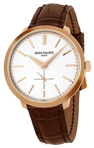 Patek Philippe Patek Philippe Calatrava 38mm Rose Gold Watch Brown Leather Strap