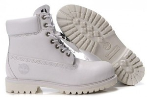 Timberland All Leather White Boots