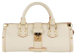 Louis Vuitton Suhali Studded Satchel in Ivory
