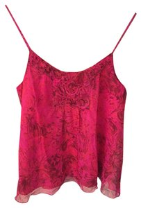 Anna Sui Flowy Camisole Chiffon Top Pink Floral