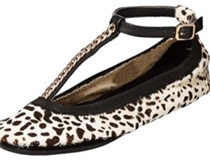 Yosi Samra Black, Brown, White, Gold Flats