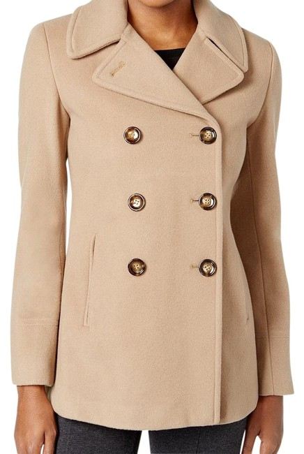 Item - Camel Wool Cashmere Double-breasted Coat Size 6 (S)
