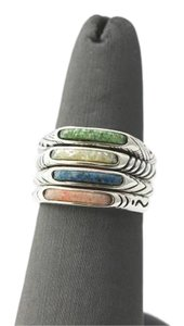 Stacking Southwestern Ring with Natural Stone Composite
