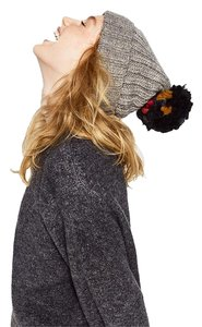 Zara SUPERSIZE KNIT POMPOM HAT