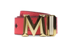 MCM MCM Visetos New Buckle Belt in Red- 43 inches