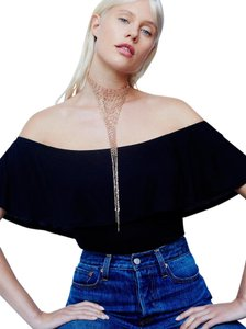 Free People Free people Low Down Chainmail V Necklace Rose Gold