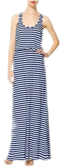 Blue and White Maxi Dress by Michael Stars