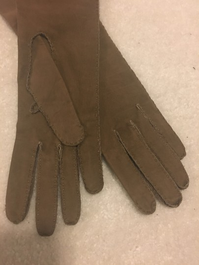 Max Mara Brand New never used soft suede long winter gloves - same day shipping Image 1