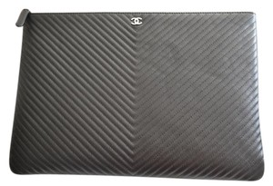Chanel Laptop Case Black Clutch