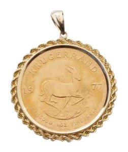 Other Vintage 14K Yellow Gold Krugerrand Coin Pendant