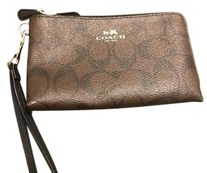 Coach Wristlet in Brown & Black