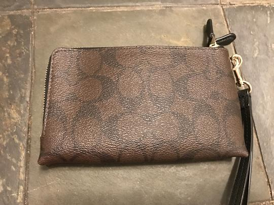 Coach Wristlet in Brown & Black Image 5